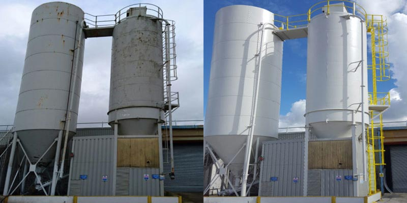 Silo Refurbishment - Before & After