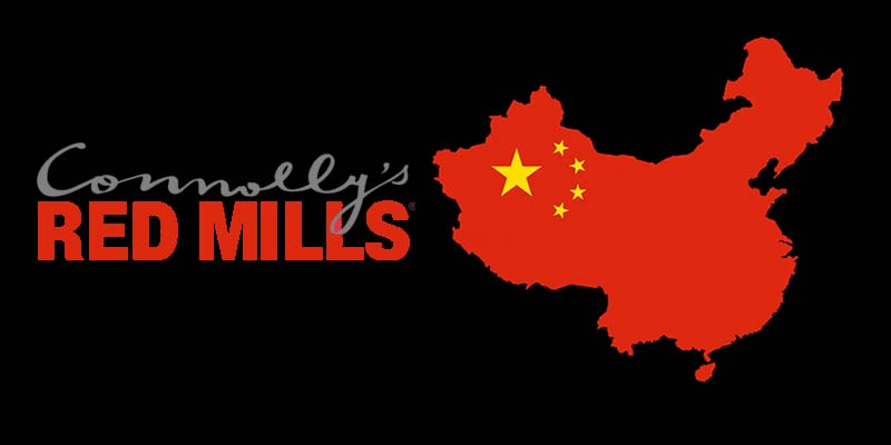 Connolly's Red Mills to export to China